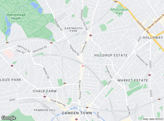 Map for Winkworth, Kentish Town