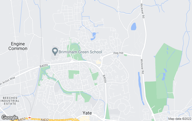 Map for Woods Estate Agents, Yate