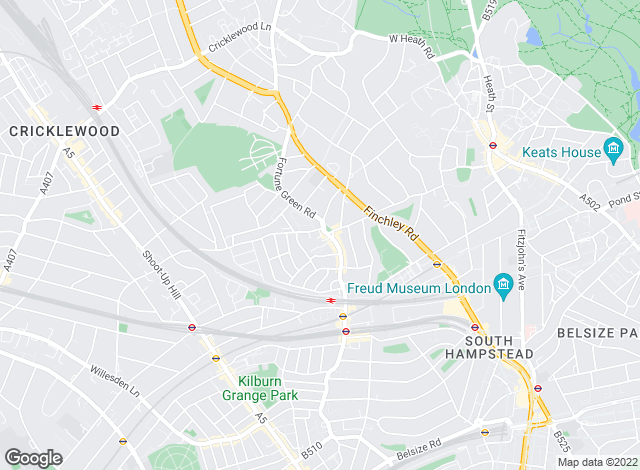 Map for Alexanders, West Hampstead
