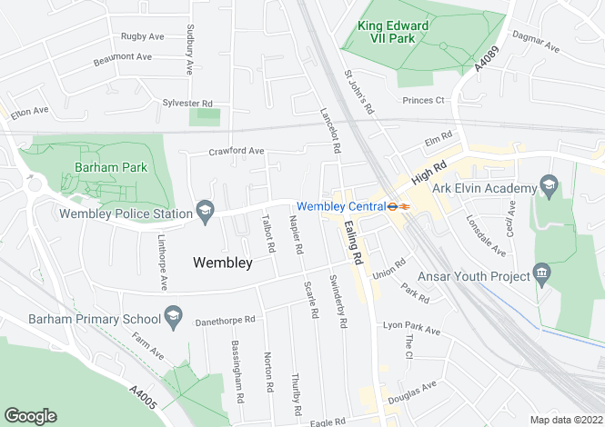 Map for 563 High Road, Wembley,