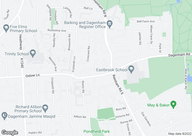 Map for Webbscroft Road,