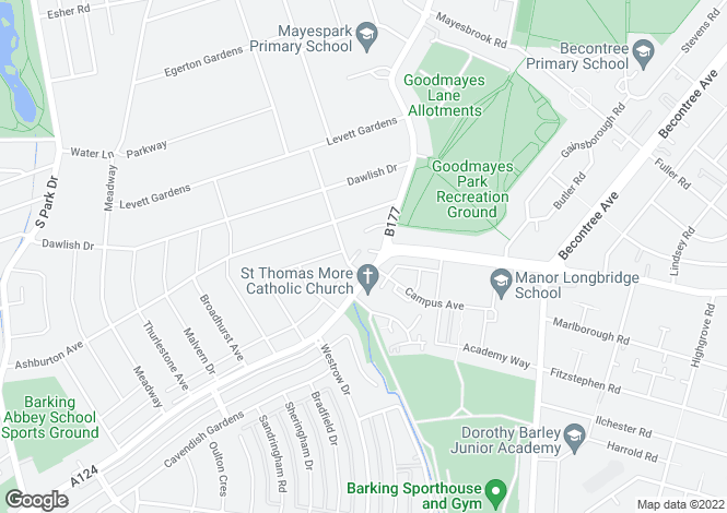 Map for Roehampton 254 at Academy Central, Lodge Avenue,