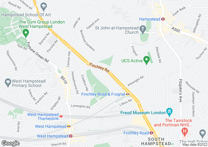 Map for Finchley Road, Hampstead, London NW3 6HF