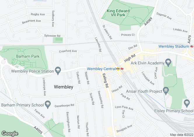Map for RKC HOUSE, 586 High Road, Wembley