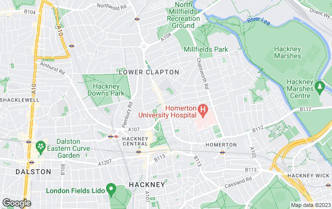 Map for Castles Estate Agents, Hackney