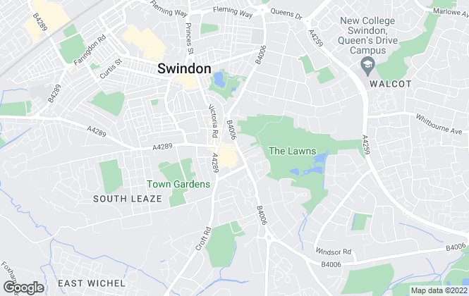 Map for Home Finders, Swindon
