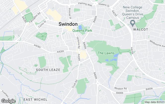 Map for Charles Harding Estate Agents, Swindon - Wood Street