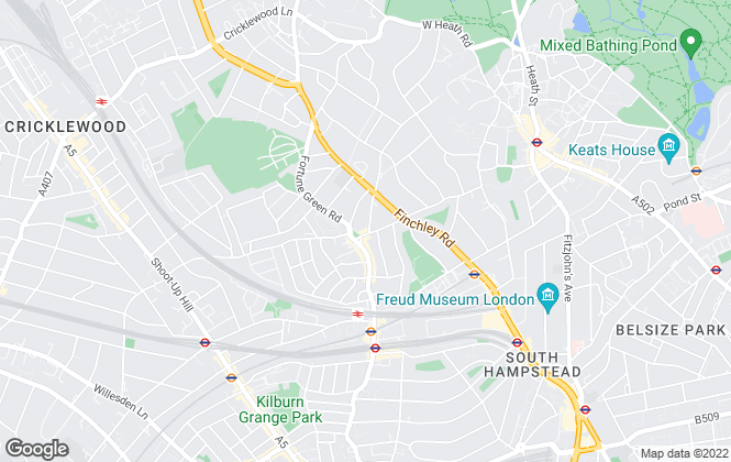 Map for Martin & Wright, West Hampstead