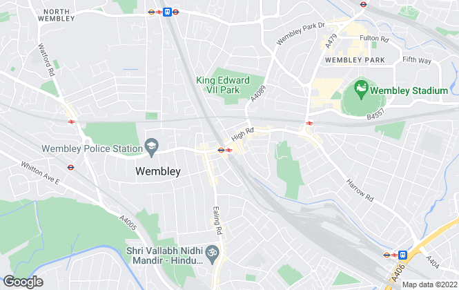 Map for Foxtons, Wembley