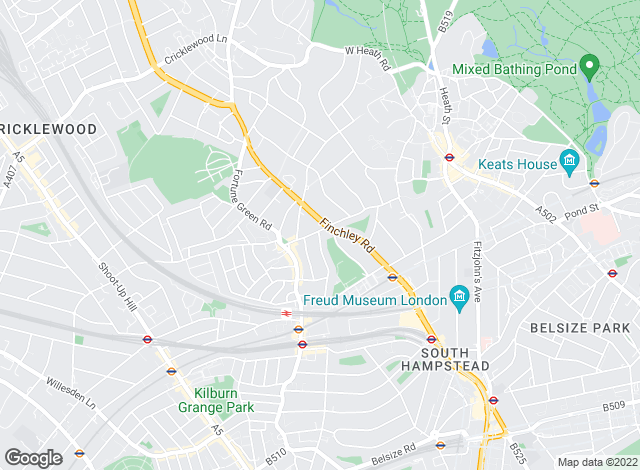 Map for Bushells, West Hampstead