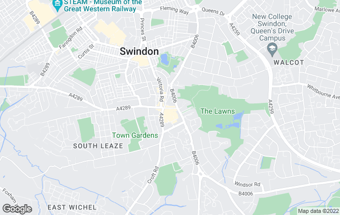 Map for Mcfarlane Lettings, Swindon