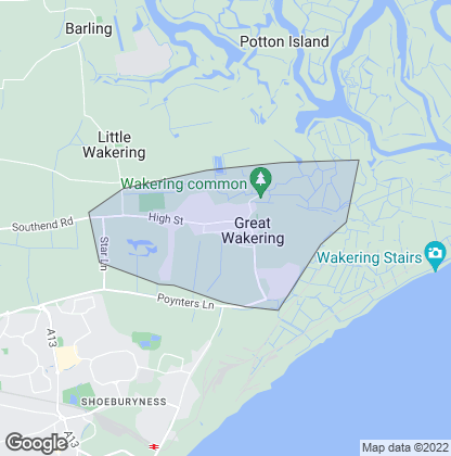 Map of property in Great Wakering