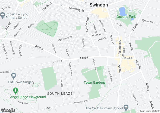 Map for Bath Road, Old Town, Swindon, Wiltshire, SN1 4AY