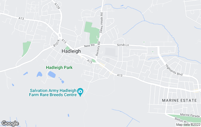 Map for Amos Estates, Hadleigh