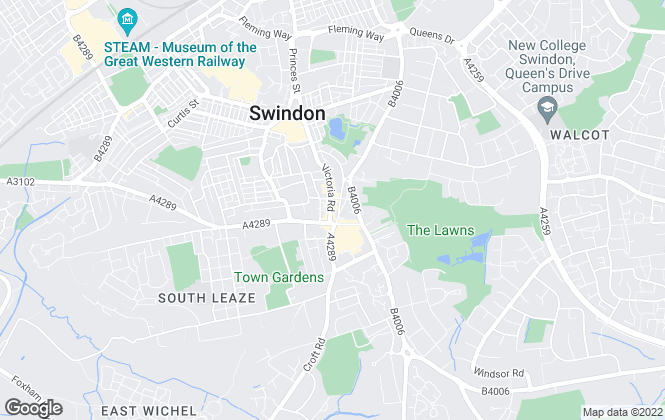 Map for Richard James, Old Town, Swindon - Lettings