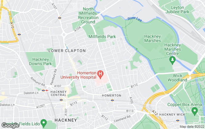 Map for Stirling Ackroyd, Clapton