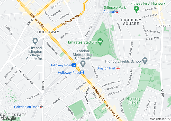 Map for 30-36, Block C, 30-36, Hornsey Road, London, N7
