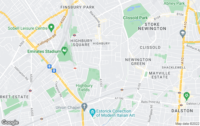 Map for Hotblack Desiato, Highbury