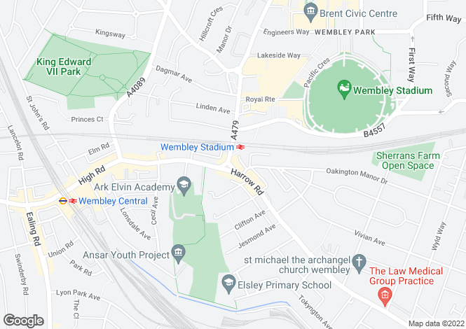 Map for Neeld Parade Wembley Hill Road, Wembley HA9 6QU