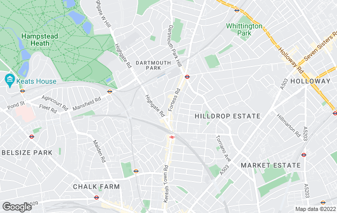 Map for Matthew James & Company, Kentish Town