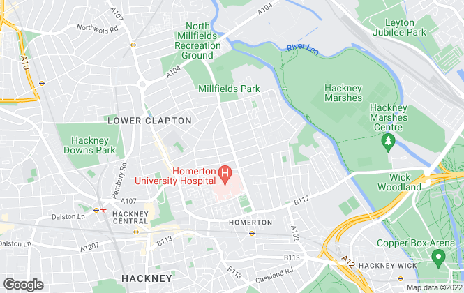 Map for Next Move, Clapton - Lettings