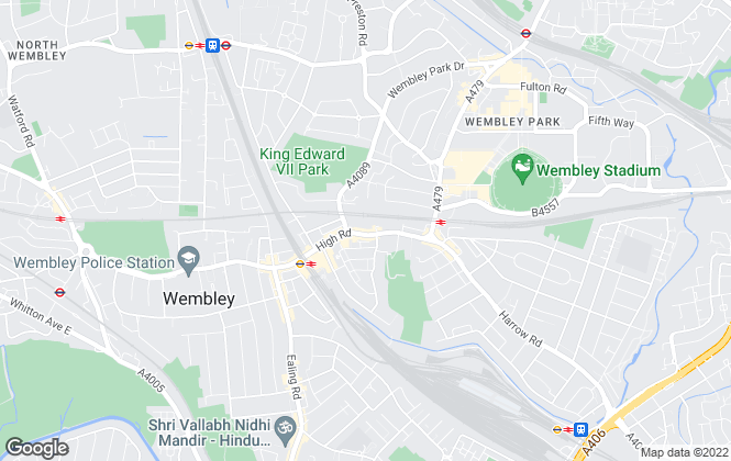 Map for Daniels, Wembley