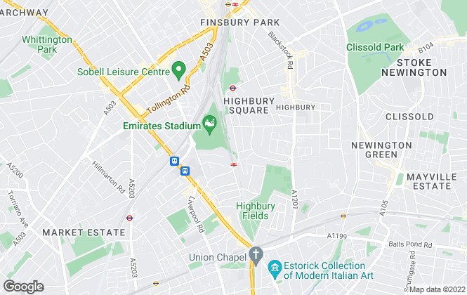 Map for Life Residential, North London Branch- lettings
