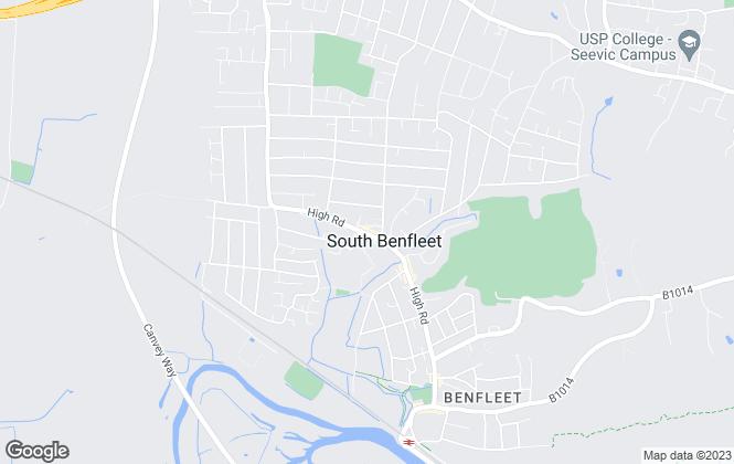 Map for Ashley Bennett, Benfleet