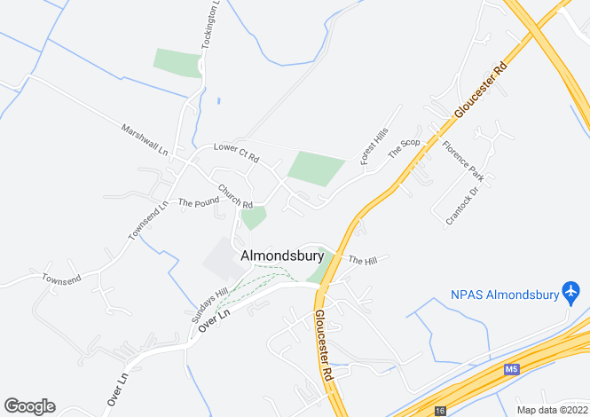 Map for Glebe Field, Almondsbury, Bristol