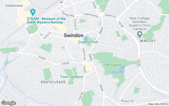 Map for Swindon Sales & Lettings, Swindon