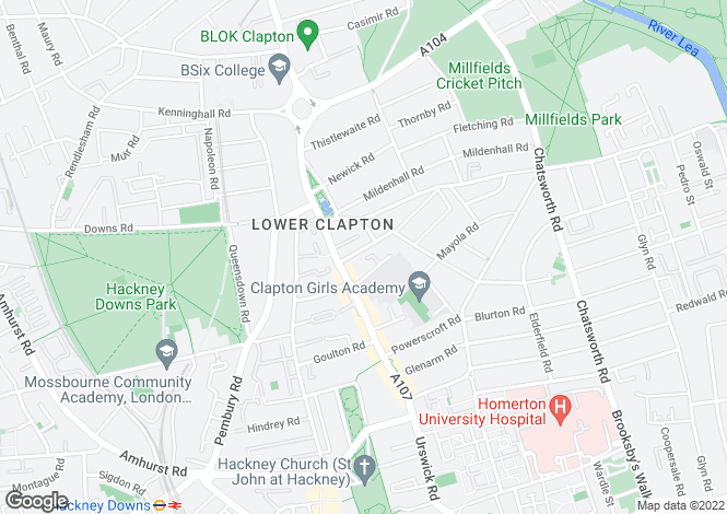 Map for Atherden Road,