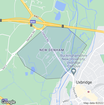 Map of property in New Denham
