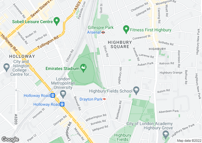Map for 71G Drayton Park, London