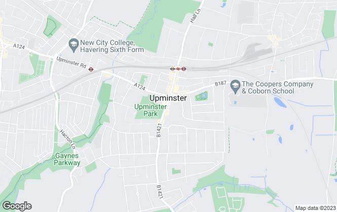 Map for Mark Bowyer Estate Agents, Upminster