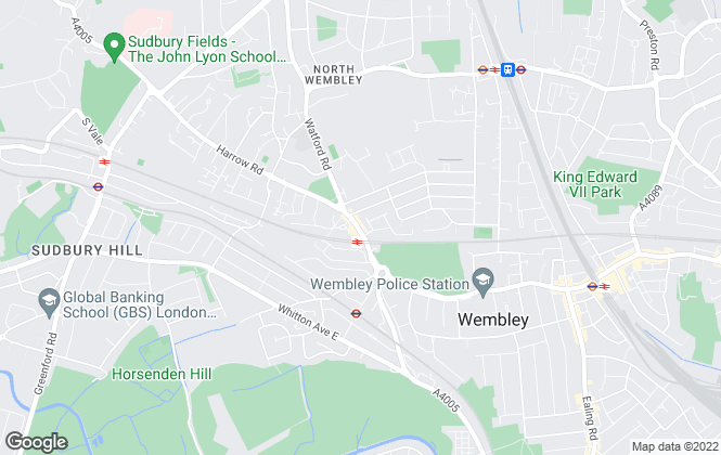 Map for Glenmore, Wembley