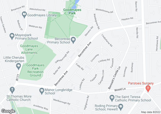 Map for Becontree Avenue,