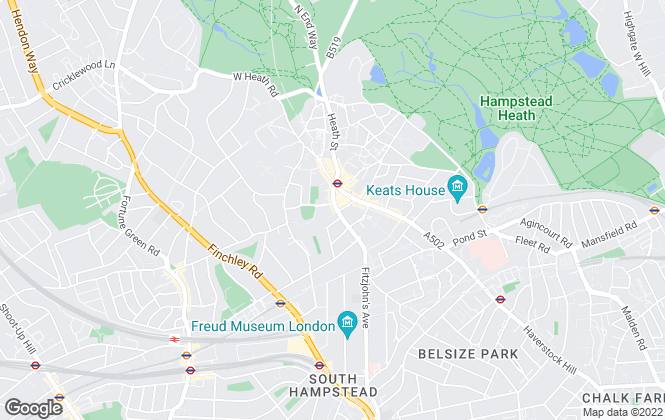 Map for Goldschmidt & Howland, Hampstead - Lettings
