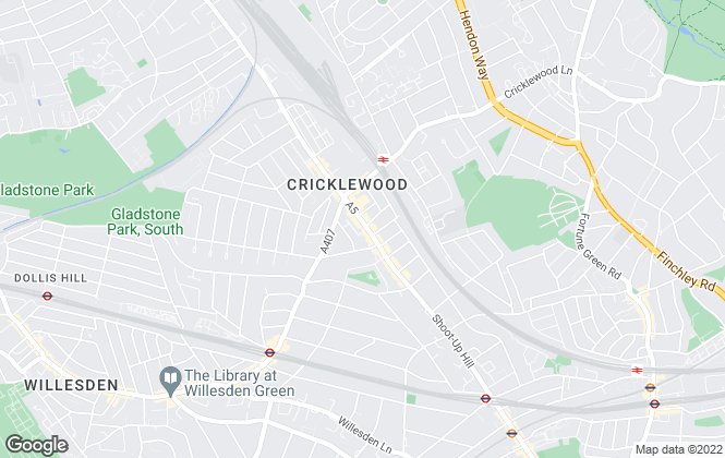 Map for Callaway & Co, Cricklewood