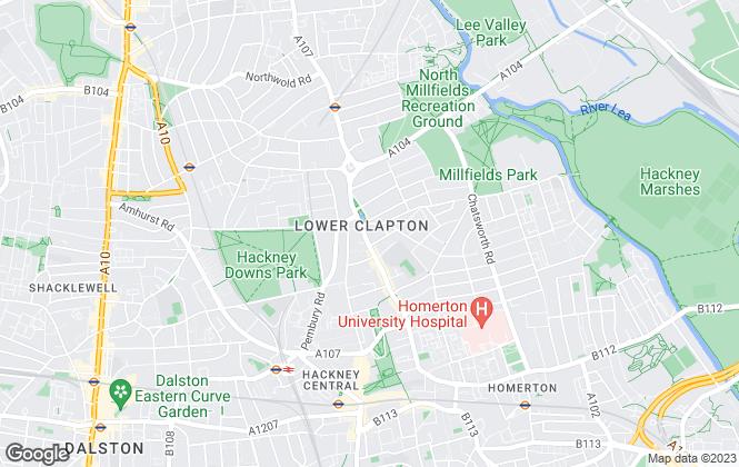 Map for Dimension Estates, London