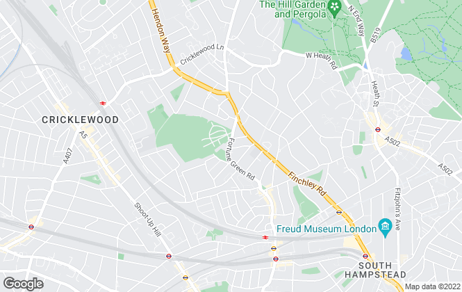 Map for Living Residential, West Hampstead-London