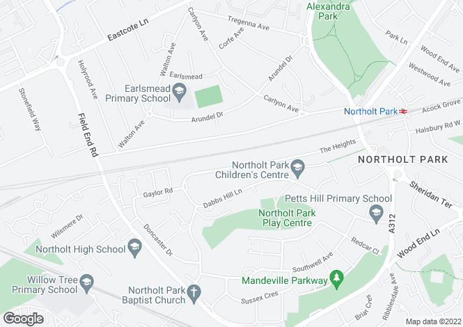 Map for Northolt