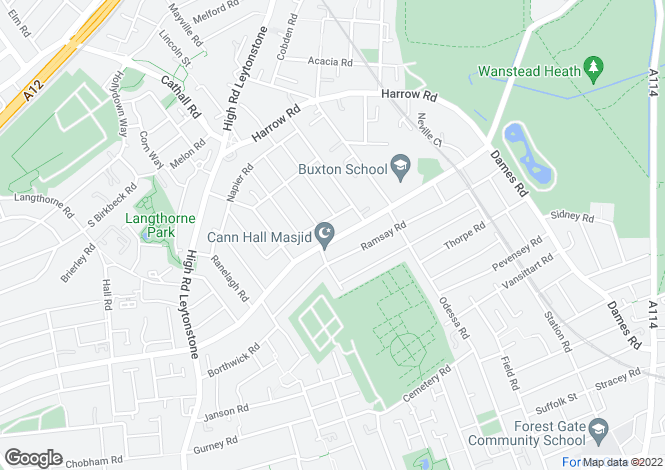 Map for Cann Hall Road  Leytonstone