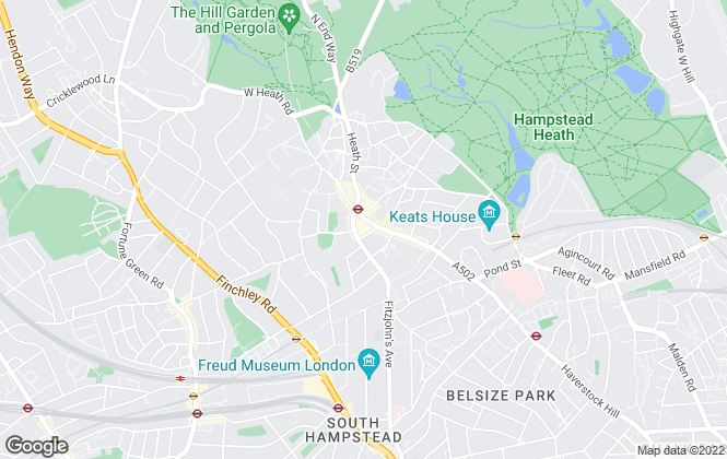 Map for Savills, Hampstead