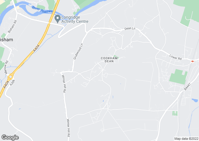 Map for COOKHAM DEAN
