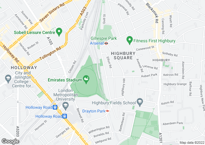 Map for 73B Drayton Park, LONDON