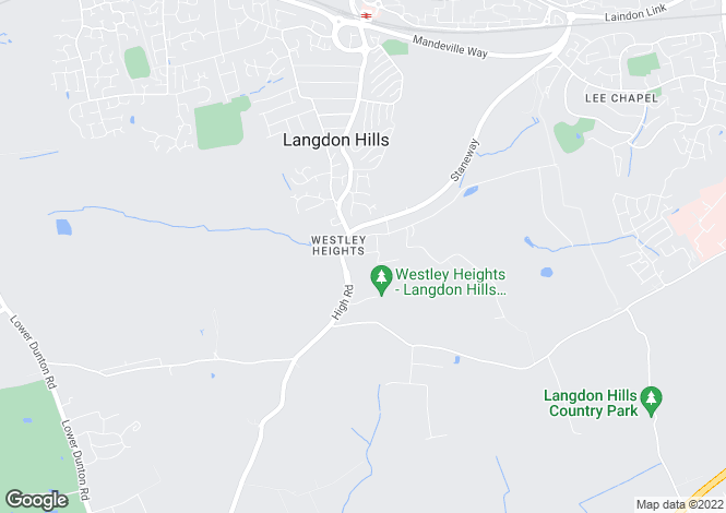 Map for Westley Road Langdon Hills