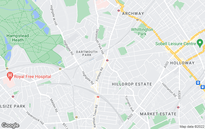 Map for Dexters, Tufnell Park