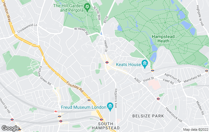Map for Hamptons International Sales, Hampstead