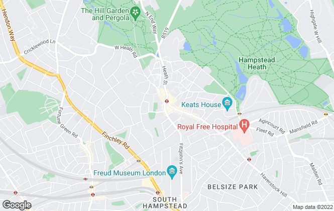 Map for Chestertons Estate Agents , Hampstead Lettings