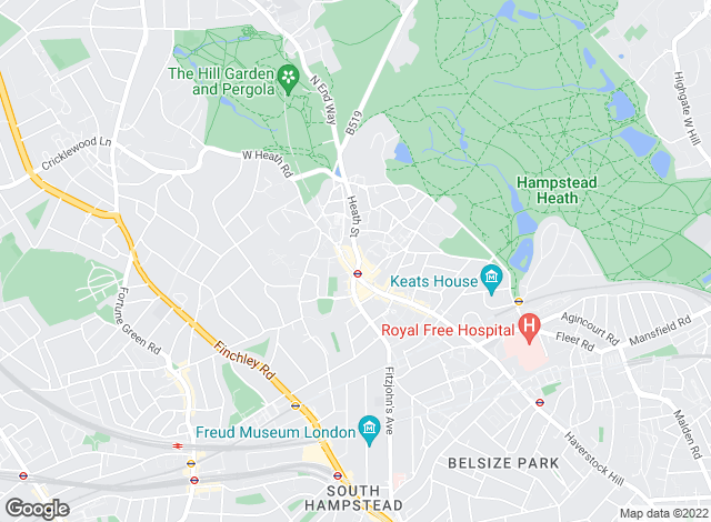 Map for Anscombe & Ringland, Hampstead Flat Lettings